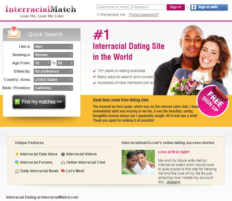 Dating site search by ethnicity